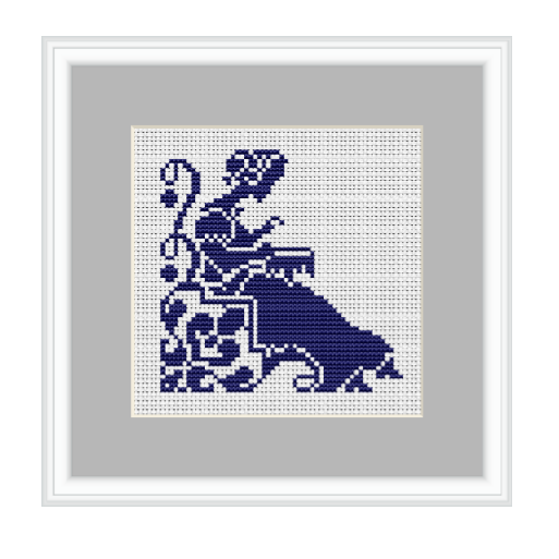 Embroidering Woman Cross Stitch Pattern