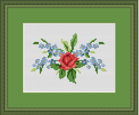 Bouquet of Flowers Cross Stitch Pattern