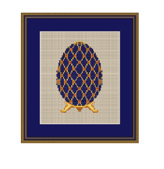 Faberge Egg Cross Stitch Pattern. Easter Egg PDF Pattern.
