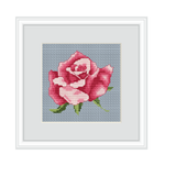 Rose Counted Cross Stitch Pattern.