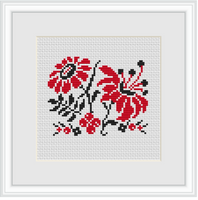 Flowers Ornament Cross Stitch Kit