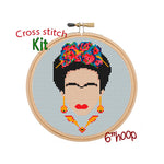 Frida Kahlo Cross Stitch Kit