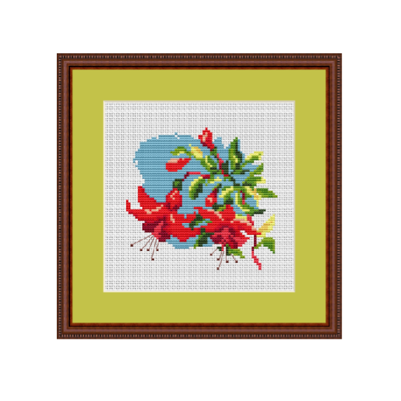 Fuchsia Cross Stitch Pattern