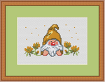 Little Garden Gnome Cross Stitch Pattern