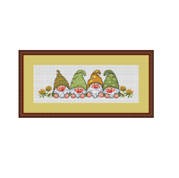 Garden Gnomes Cross Stitch Pattern