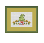 Funny Garden Gnome Cross Stitch Pattern