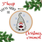 Christmas Gnome Ornament Cross Stitch Kit
