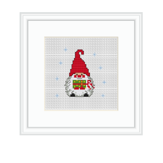 Christmas Gnomes Pattern.Gnome With Present Cross Stitch Kit