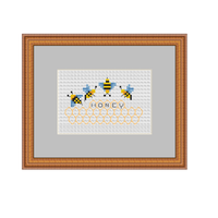 Bees And Honey Cross Stitch Pattern.