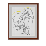 Holy Family Cross Stitch Pattern