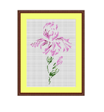 Iris Flower Cross Stitch Pattern