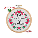 I'd Rather Be Reading Cross Stitch Kit.
