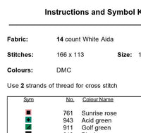 I Love NY Cross Stitch Pattern. PDF Pattern.