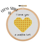 I love you a waffle lot Cross Stitch Kit