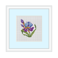Iris Cross Stitch Pattern