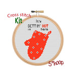 It's Gettin' Hot In Here Cross Stitch Kit