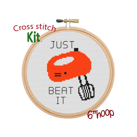 Just Beat It Cross Stitch Kit.