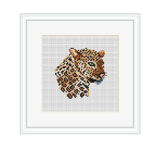Leopard Cross Stitch Kit. Wild Animals Cross Stitch Kit.