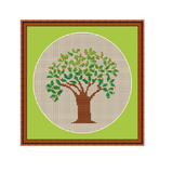 Instant Download Chart. Tree Cross Stitch Pattern.
