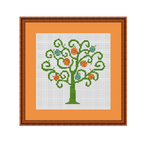 Funny Tree Cross Stitch Pattern. Instant Download Chart.