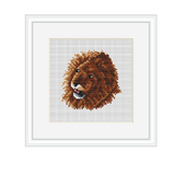 Lion Cross Stitch Kit. Wild Animals Cross Stitch Kit.