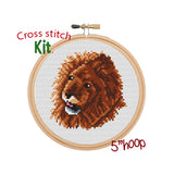 Lion Cross Stitch Kit.