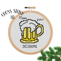Make Pour Decision Cross Stitch Kit