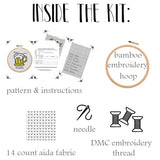 Make Pour Decision Cross Stitch Kit. Beer Mug Cross Stitch Kit.