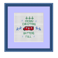 Merry Chistmas Shitter's Full Cross Stitch Kit