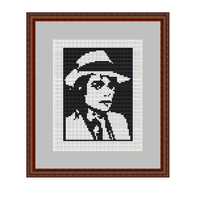 Michael Jackson Cross Stitch Pattern