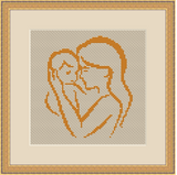 Mother With Baby Cross Stitch Kit. Mother's Day Gift.