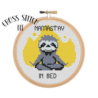 Namast'ay In Bed Cross Stitch Kit
