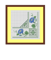 Napkin Cross Stitch Pattern. Instant Download.