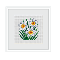 Instant Download Narcissus Cross Stitch Pattern