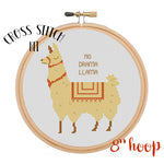 No Drama Llama Cross Stitch Kit.
