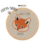 "Cross Stitch Kit ""Oh! For Fox Sake"""