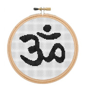 Om Yoga Cross Stitch Pattern.