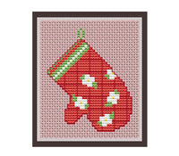 Oven Glove Cross Stitch Pattern.