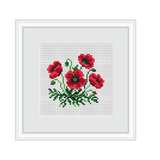 Poppy Cross Stitch Pattern.
