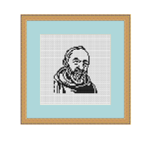 Padre Pio Cross Stitch Pattern.