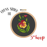 Pansy Flower Cross Stitch Kit