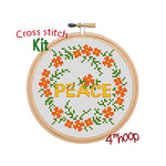 Peace Cross Stitch Kit