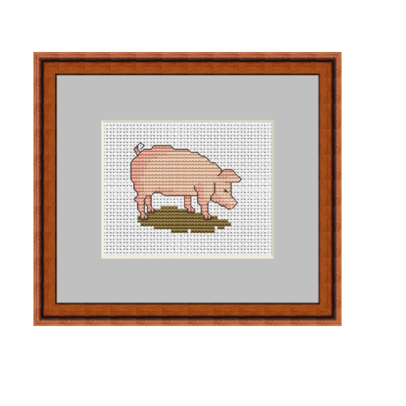 Funny Pig Cross Stitch Pattern. Cross Stitch PDF Pattern.
