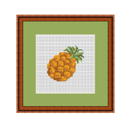 Pineapple Cross Stitch Pattern. Instant Download Chart.