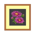 Instant Download Chart. Asters Cross Stitch Pattern.