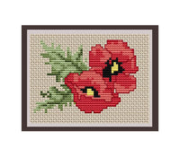 Poppy Flower Cross Stitch Pattern