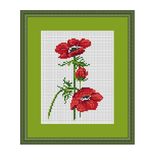 Poppy Counted Cross Stitch Pattern