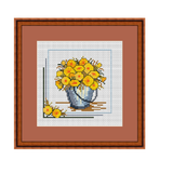 Potted Flowers Easy Cross Stitch Chart