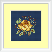Rustic Rose Cross Stitch Kit