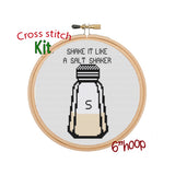 Shake It Like A Salt Shaker Cross Stitch Kit
